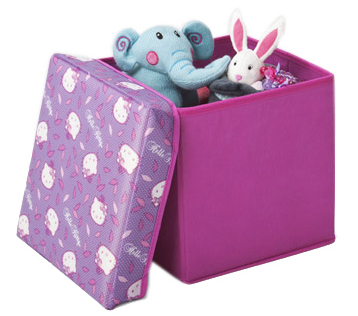 Contenedor Plegable Infantil 30x30cm Hello Kitty